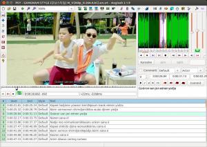 Aegisub 2.1 with Gangman Style subtitles